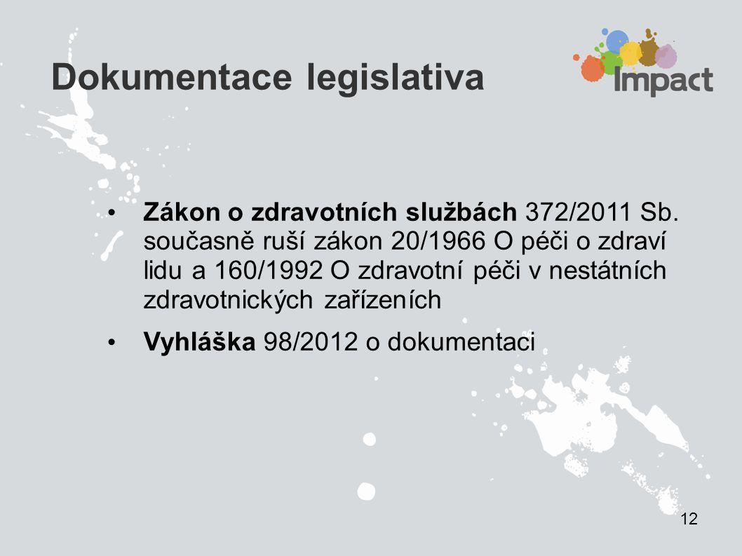 Dokumentace legislativa