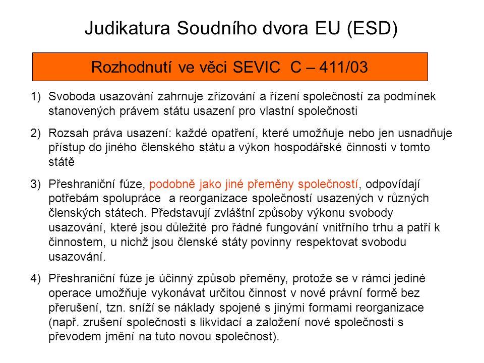 Judikatura Soudního dvora EU (ESD)
