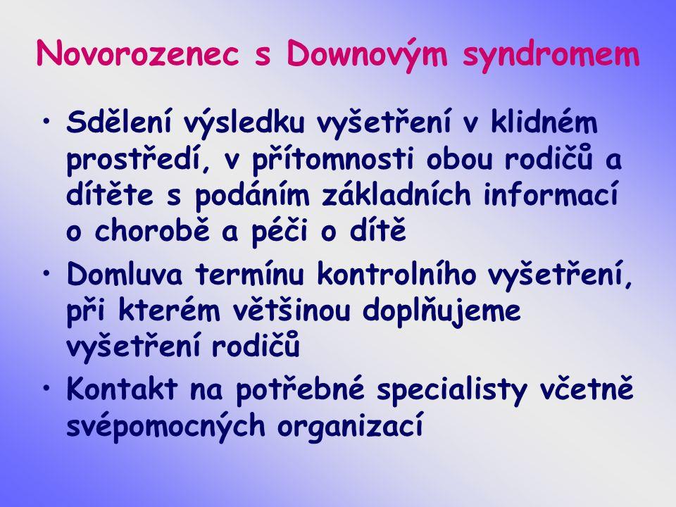 Novorozenec s Downovým syndromem