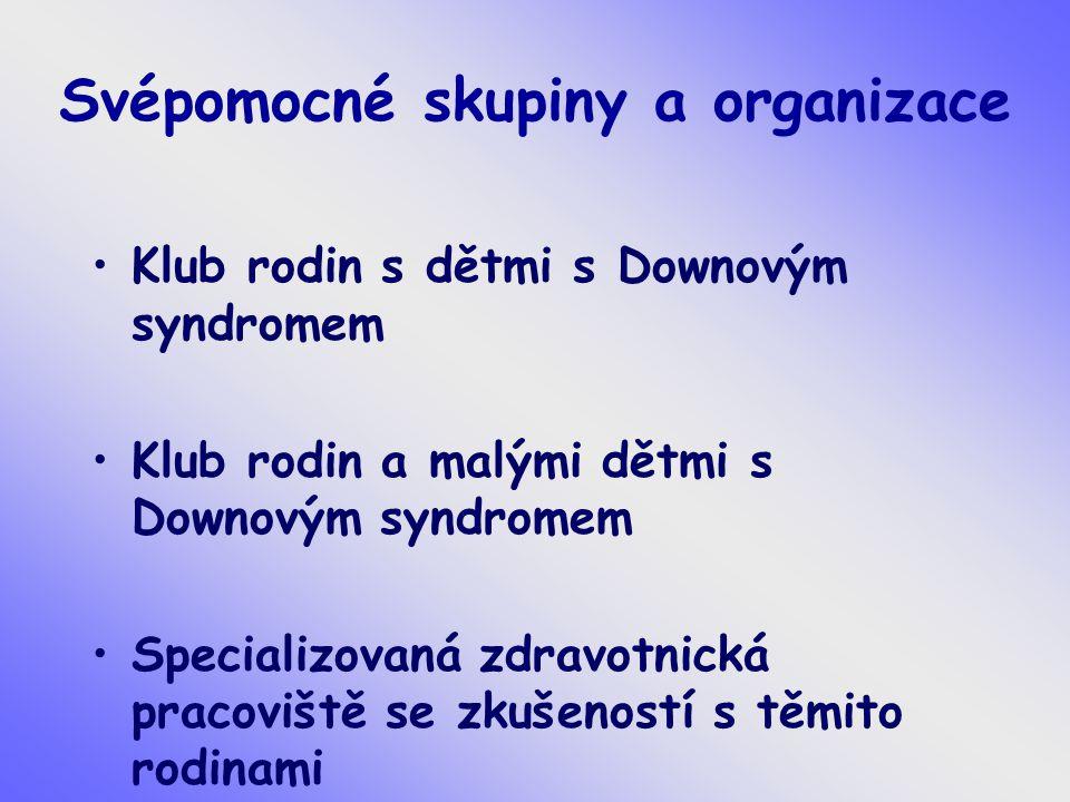 Svépomocné skupiny a organizace