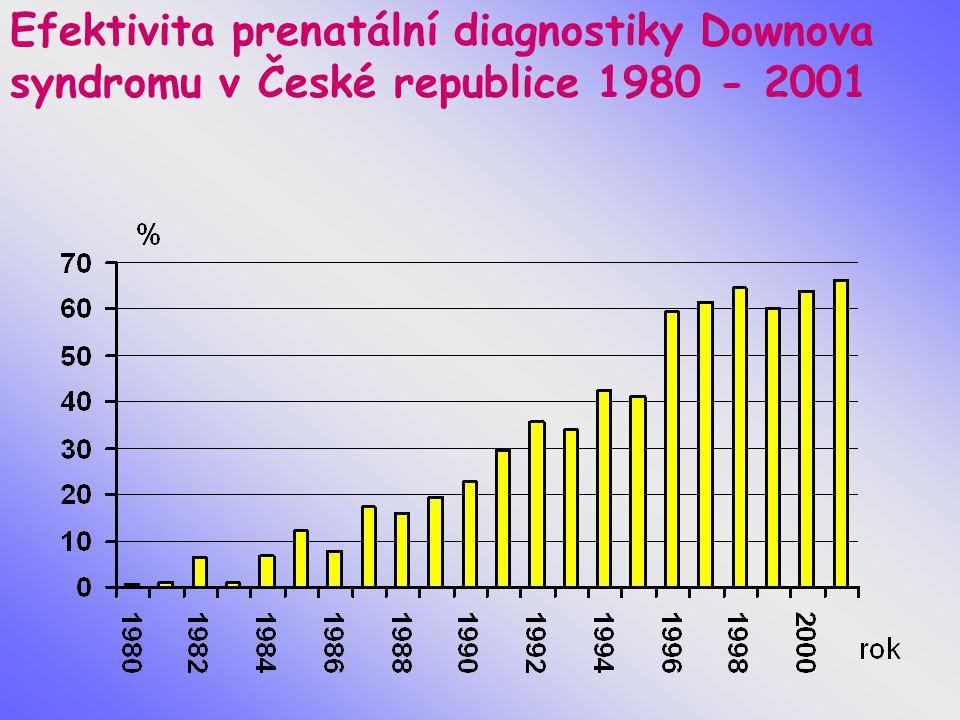 Efektivita prenatální diagnostiky Downova syndromu v České republice 1980 - 2001