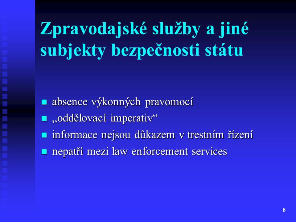 Zpravodajské služby a jiné subjekty bezpečnosti státu