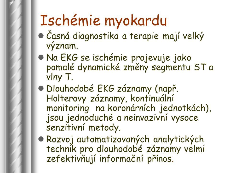 Ischémie myokardu Časná diagnostika a terapie mají velký význam.