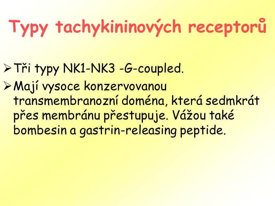 Typy tachykininových receptorů