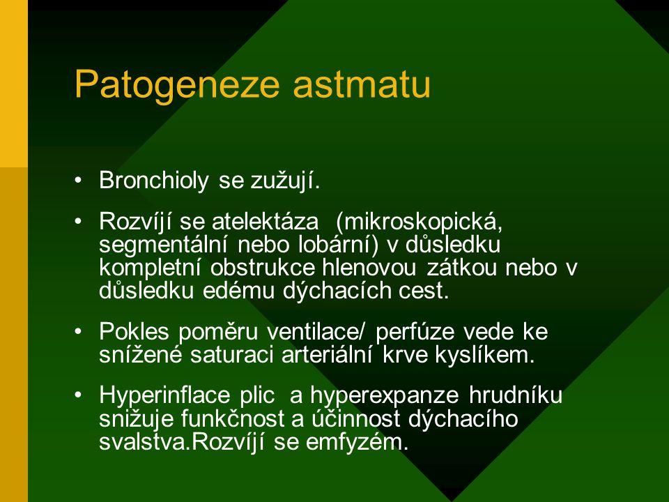 Patogeneze astmatu Bronchioly se zužují.
