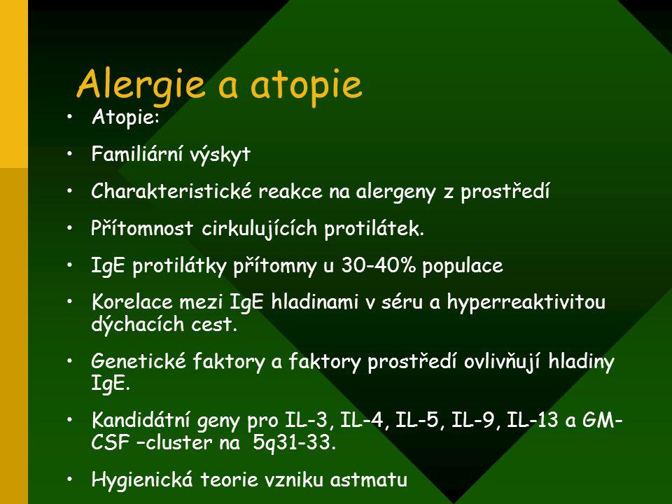 Alergie a atopie Atopie: Familiární výskyt