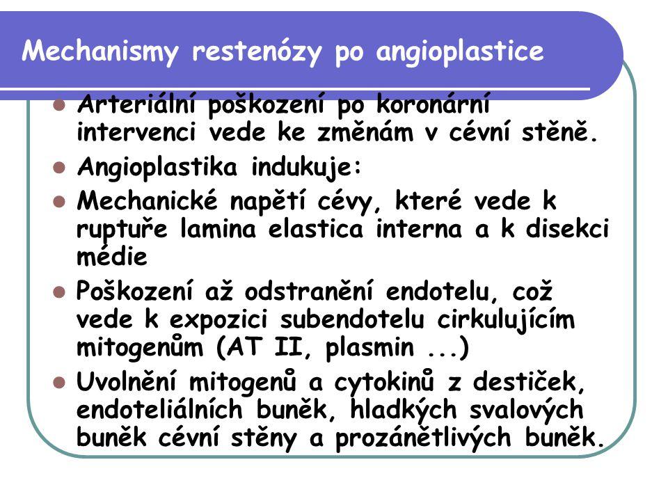 Mechanismy restenózy po angioplastice