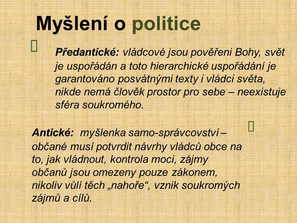 Myšlení o politice Ï.