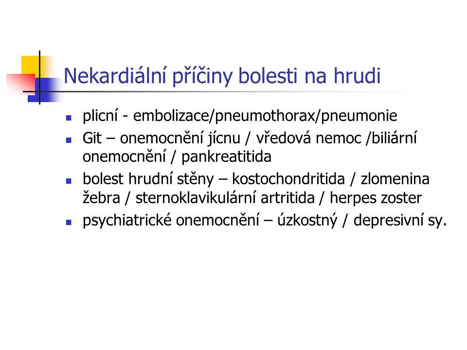 Nekardiální příčiny bolesti na hrudi