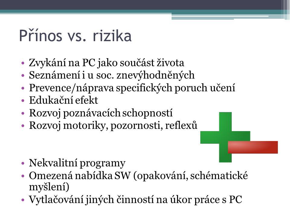Přínos vs. rizika Zvykání na PC jako součást života