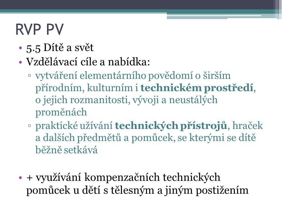 RVP PV 5.5 Dítě a svět Vzdělávací cíle a nabídka: