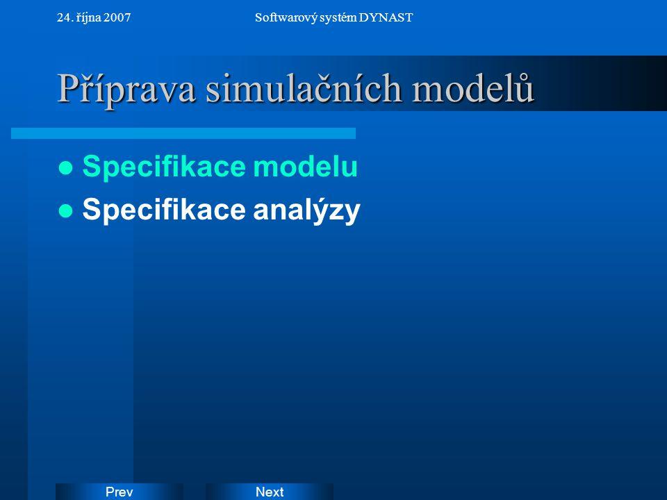 Příprava simulačních modelů