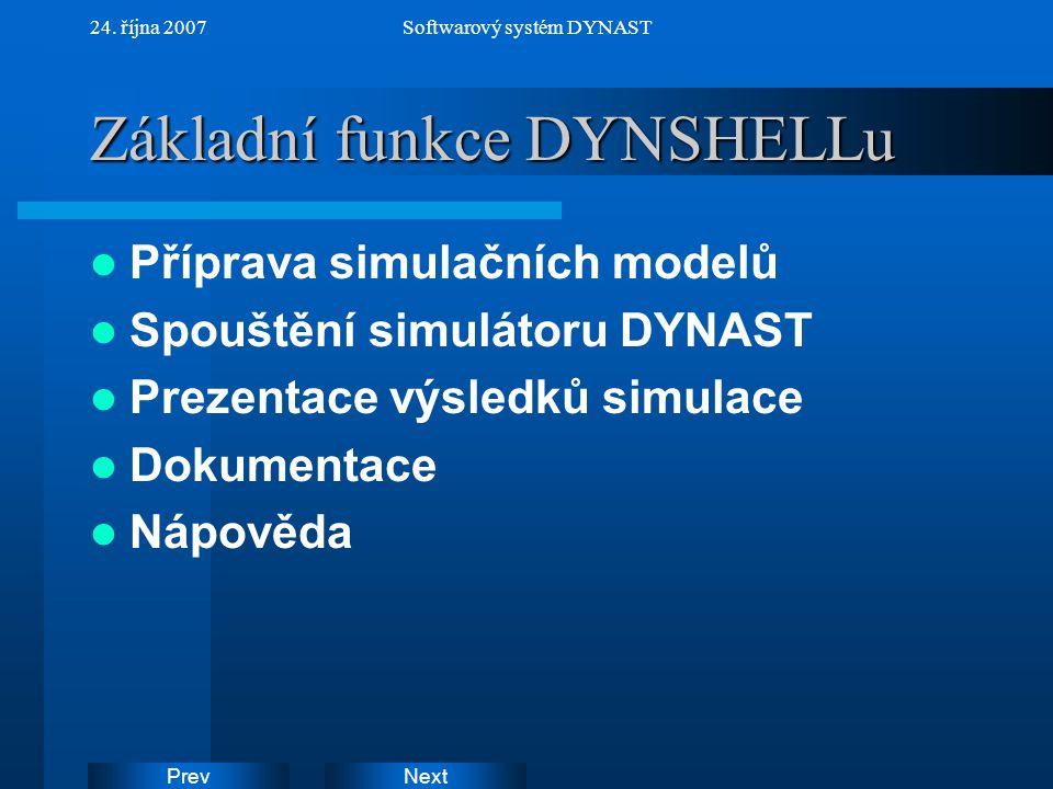 Základní funkce DYNSHELLu