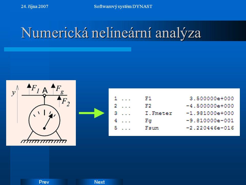 Numerická nelineární analýza