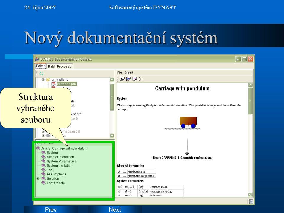Nový dokumentační systém