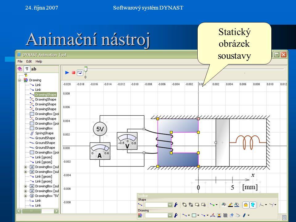 Animační nástroj Statický obrázek soustavy 24. října 2007