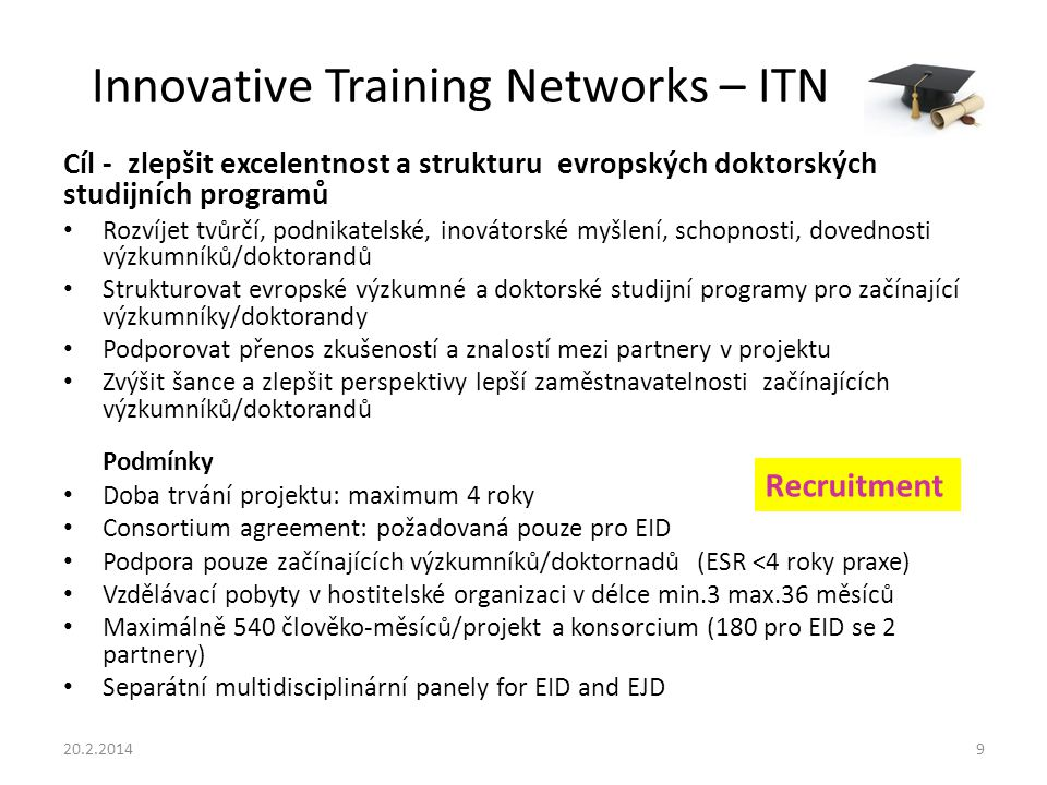 Innovative Training Networks – ITN