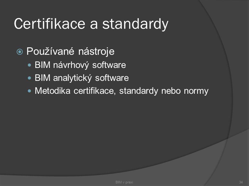 Certifikace a standardy