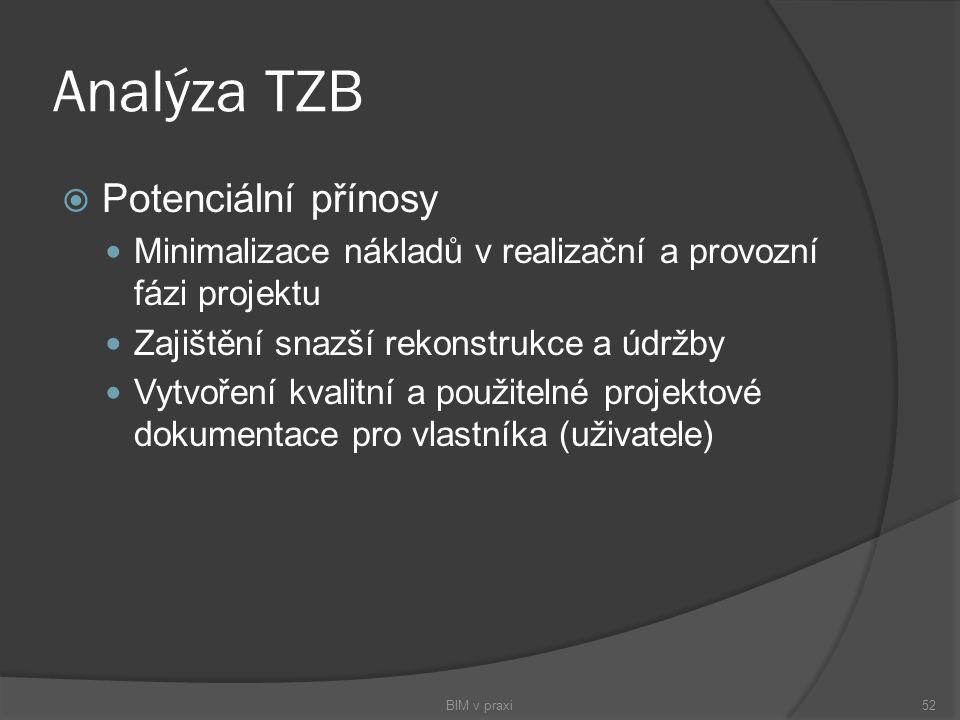 Analýza TZB Potenciální přínosy