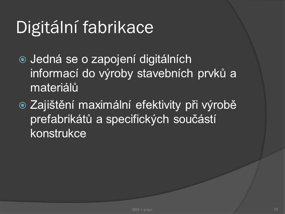 Digitální fabrikace Jedná se o zapojení digitálních informací do výroby stavebních prvků a materiálů.