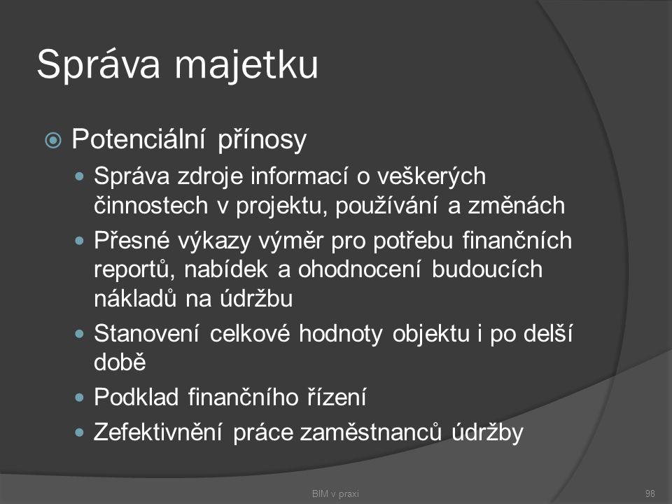 Správa majetku Potenciální přínosy