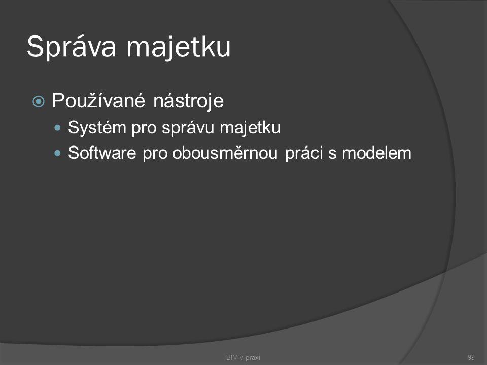 Správa majetku Používané nástroje Systém pro správu majetku
