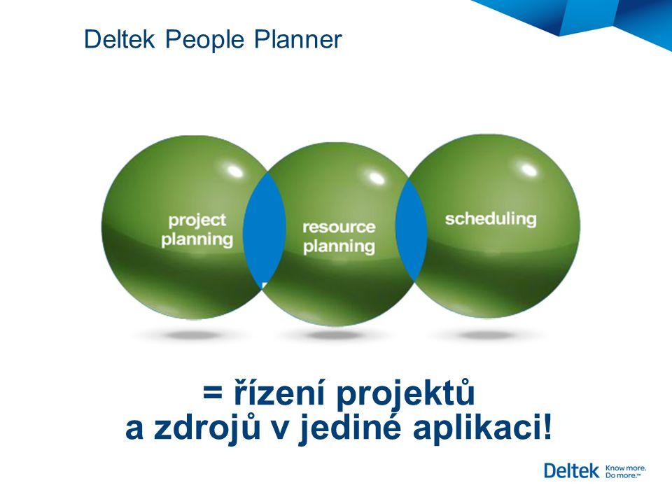 = řízení projektů a zdrojů v jediné aplikaci!