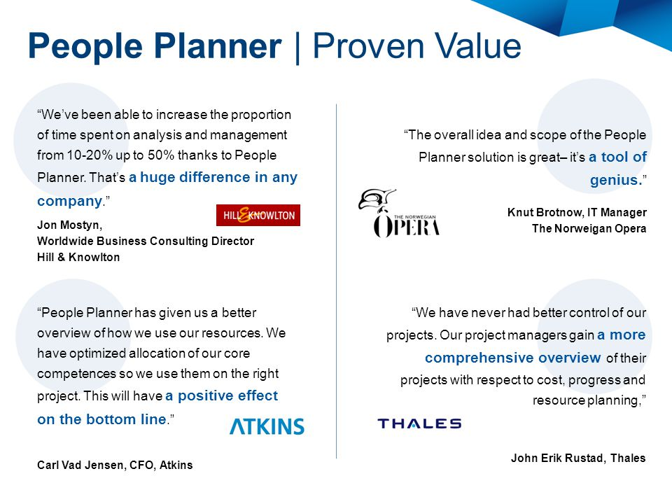 People Planner | Proven Value