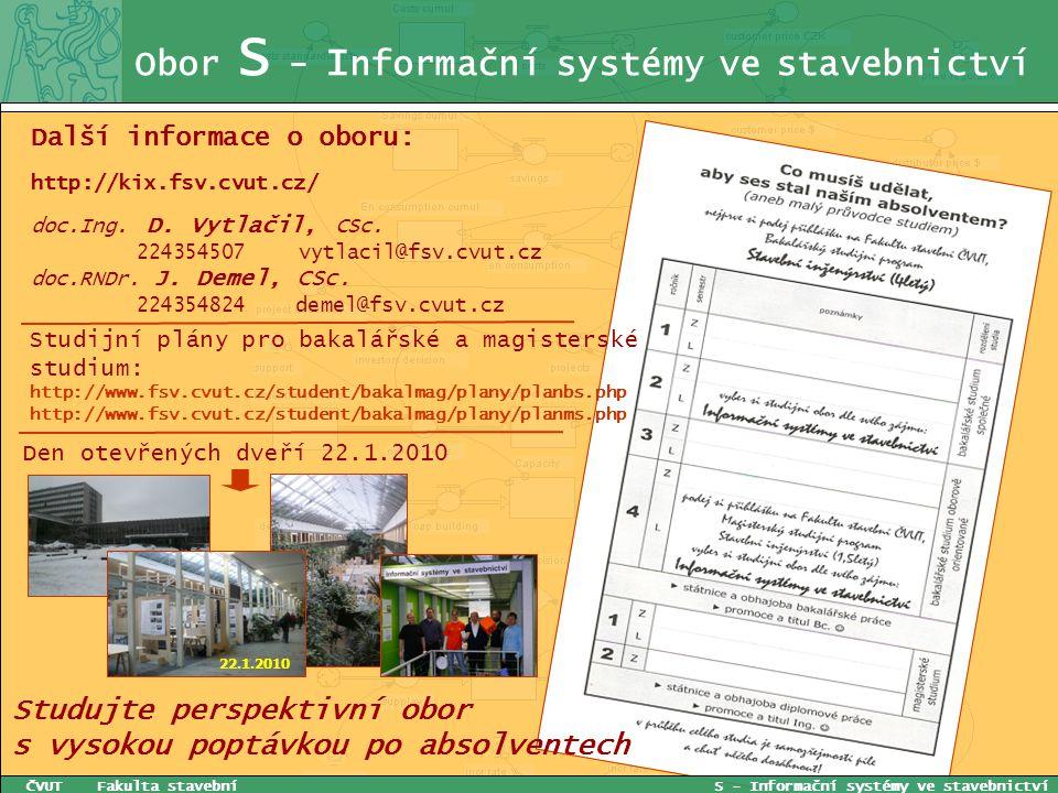 Obor S - Informační systémy ve stavebnictví