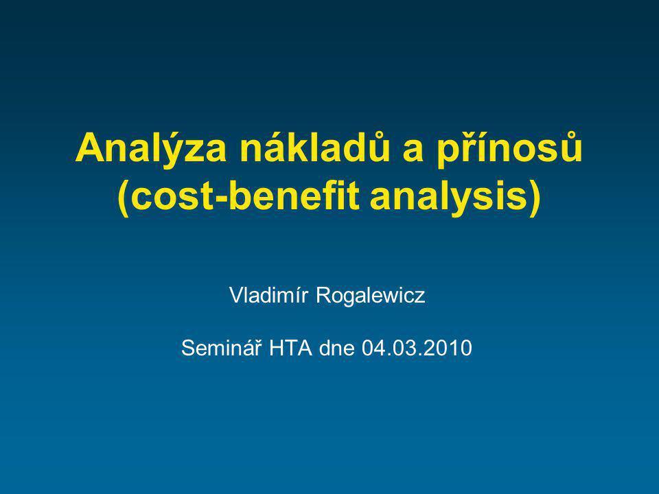 Analýza nákladů a přínosů (cost-benefit analysis)