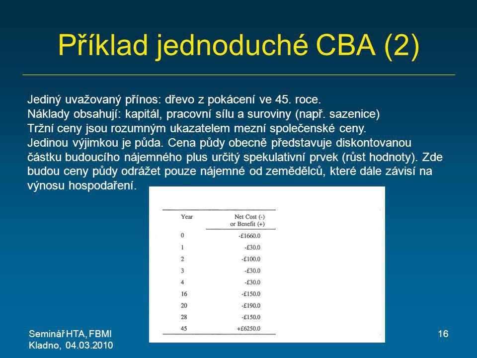 Příklad jednoduché CBA (2)