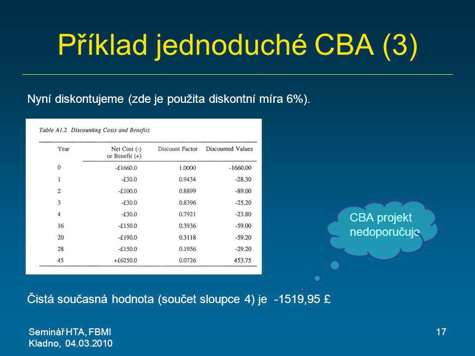 Příklad jednoduché CBA (3)