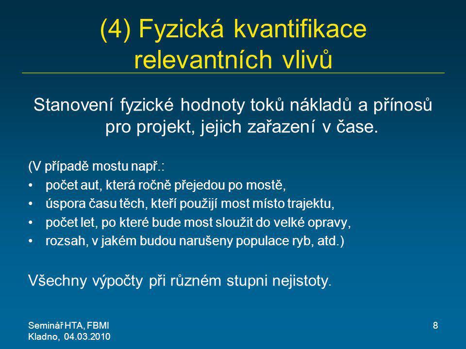 (4) Fyzická kvantifikace relevantních vlivů