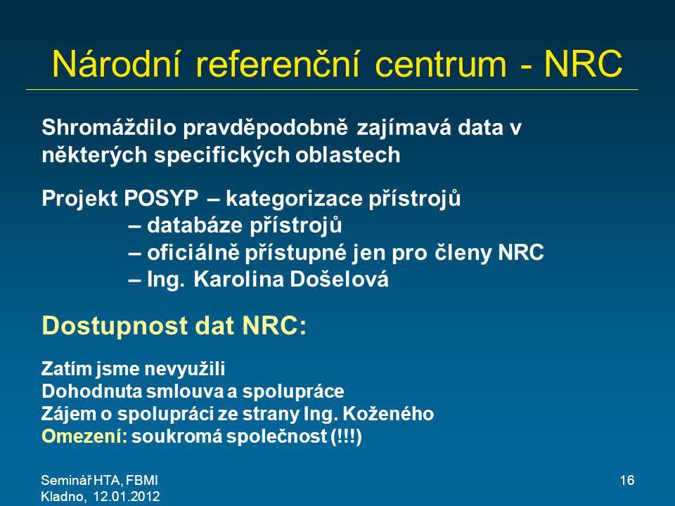 Národní referenční centrum - NRC
