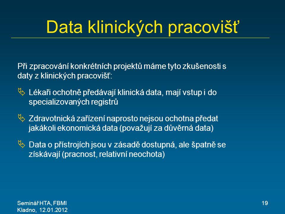 Data klinických pracovišť