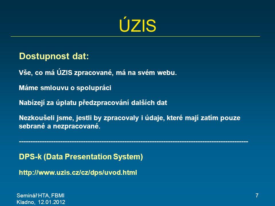 ÚZIS Dostupnost dat: DPS-k (Data Presentation System)