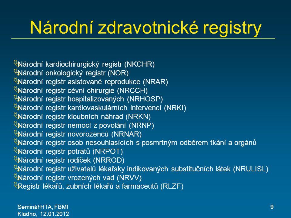 Národní zdravotnické registry