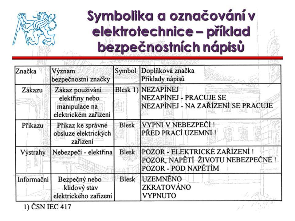 Symbolika a označování v elektrotechnice – příklad bezpečnostních nápisů
