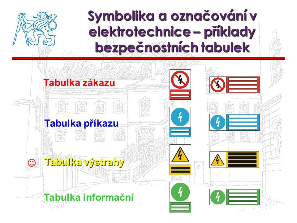 Symbolika a označování v elektrotechnice – příklady bezpečnostních tabulek