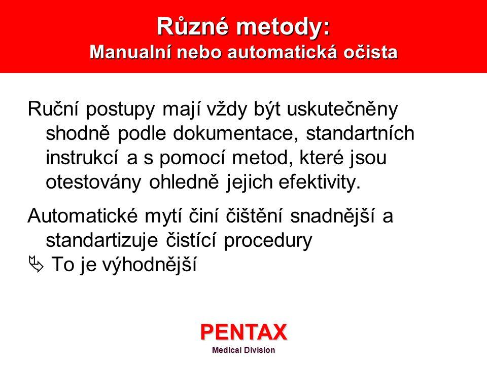 Různé metody: Manualní nebo automatická očista