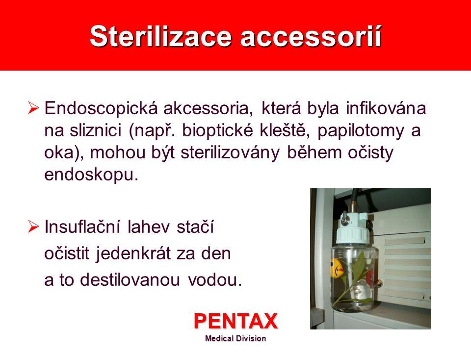 Sterilizace accessorií
