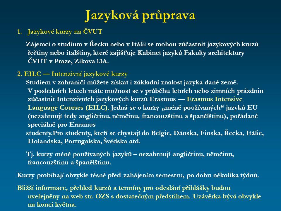 Jazyková průprava Jazykové kurzy na ČVUT