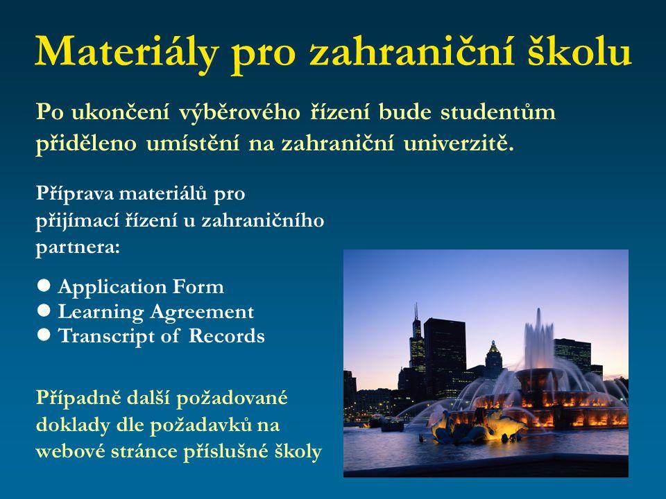 Materiály pro zahraniční školu