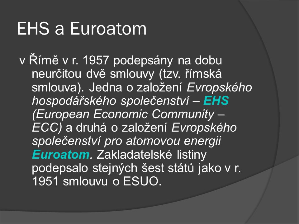 EHS a Euroatom