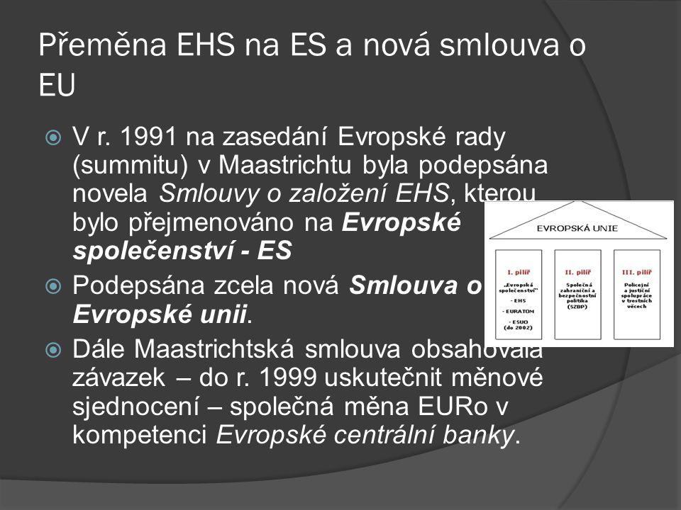 Přeměna EHS na ES a nová smlouva o EU