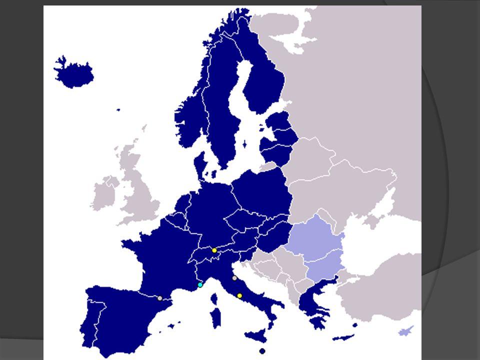 V současné době (začatek roku 2009) zahrnuje schengenský prostor členské státy EU kromě následujících: