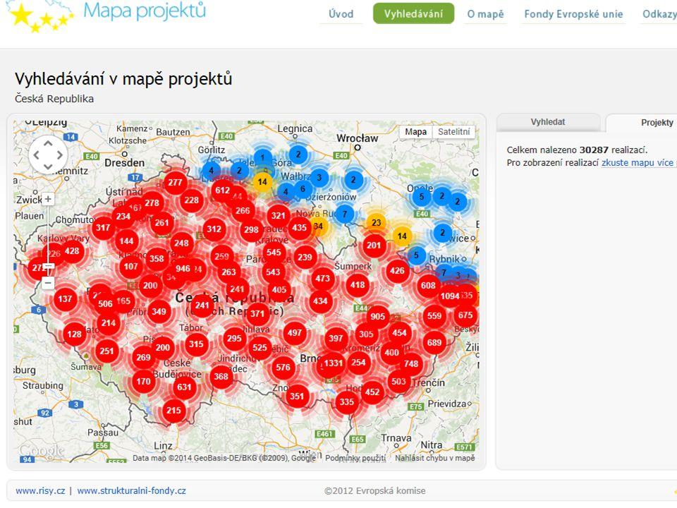 1) Podpora regionů 46,8 % http://www.mapaprojektu.cz/cs/index.shtml
