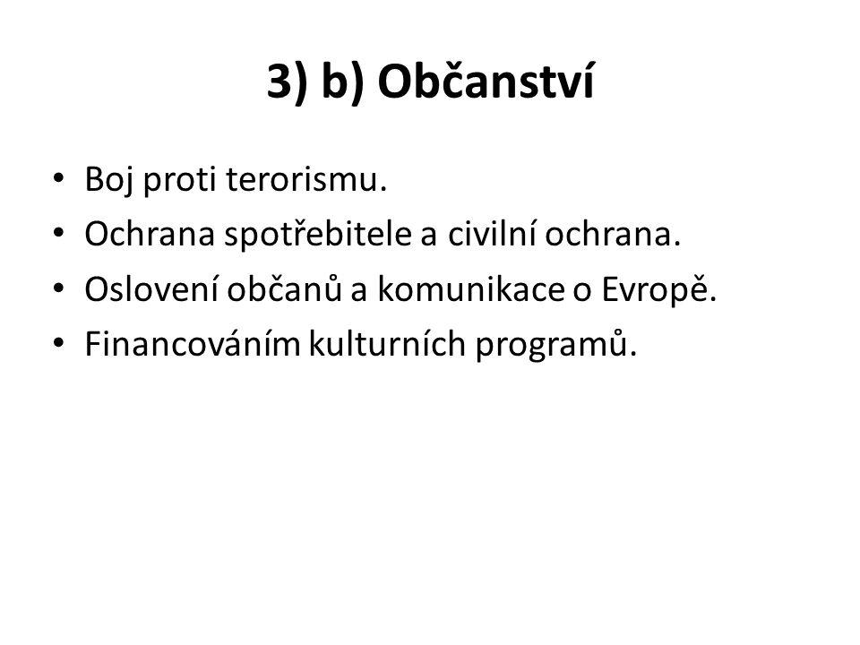 3) b) Občanství Boj proti terorismu.