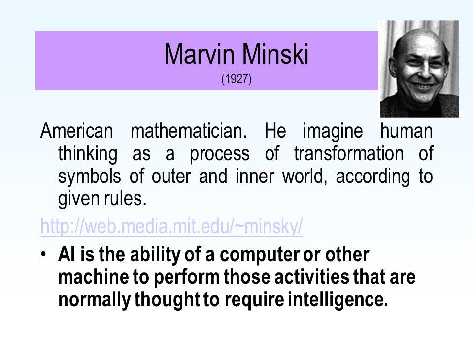 Marvin Minski (1927)