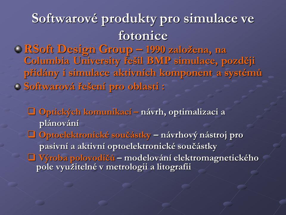 Softwarové produkty pro simulace ve fotonice